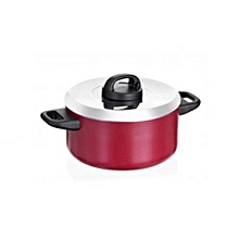 21542-T - Classique Covered Saucepot with 2 Handles and Aluminium Lid - 18cm - Red