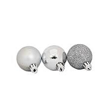 4cm Assorted Silver Chrismas Balls (12pcs)
