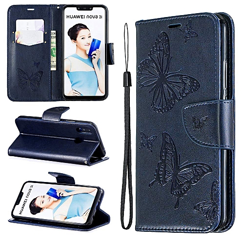on sale c035e c35e7 Huawei Nova 3i Wallet case,Huawei Nova 3i Wallet, Full Body Case Cover Book  Design with Kickstand Feature with Card Slots Phone Case for Huawei Nova ...