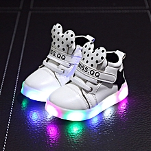 baby star Minny point LED lighting sneaker white