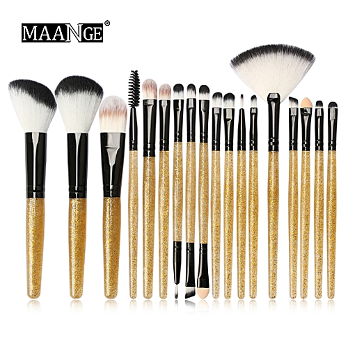 Generic Shiny Makeup Brush Set tools Make-up Toiletry Kit Glitter Brushes Set 18Pcs