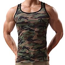 Military Sleeveless  Men's Camouflage Vest Sportswear Tank Top CE/L-CamouflageL  L