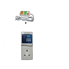Fridge Guard 5A Refrigerator voltage protector + Free 4way fused extension
