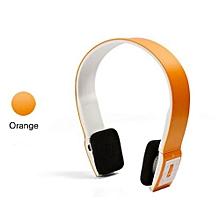 Headphone HandsFree Stereo Audio Bluetooth Headset Bluetooth Sports Wireless High Quality Headphones S460 - Orange