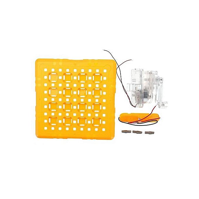 diy manual crank dc generator power light bulb science educational  physics block experiment set