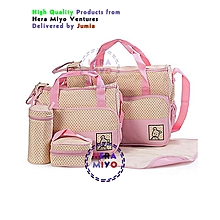 Stylish Waterproof Multi Pockets Large Capacity Baby Diaper Bag-Pink