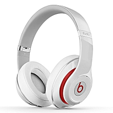Studio 2.0 Wired Over-Ear Headphone On-Ear Stereo Music Headset Noise Reduction Earphone White Second-hand No Package No Accessories
