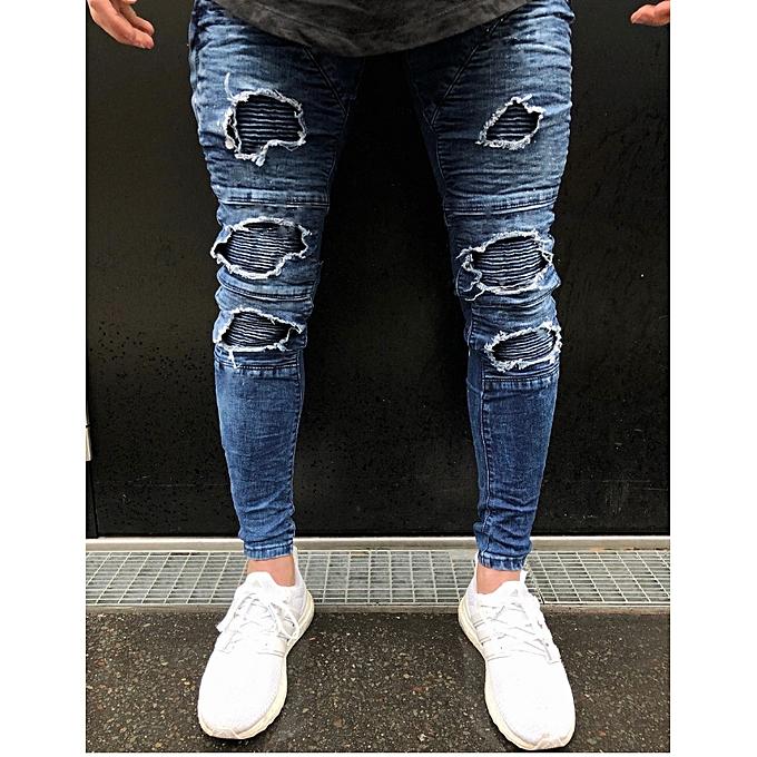 Designer Jeans For Men   Buy Fashion Hot Sell Men Designer Jeans Black Jeans Men Casual Male