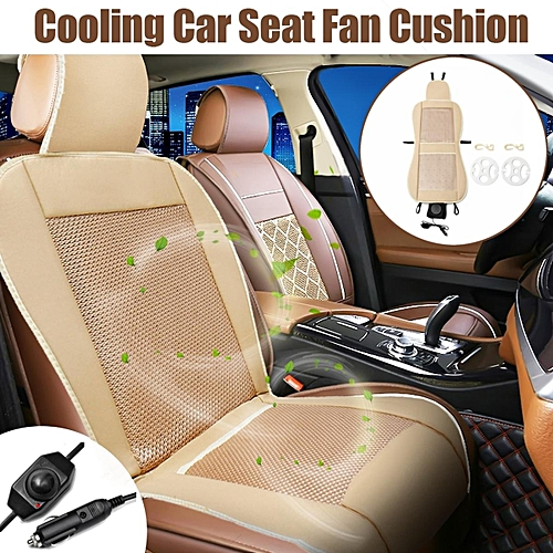 12V Cooling Car Seat Cushion Speed Control Ventilate Breathable Air Flow Holes