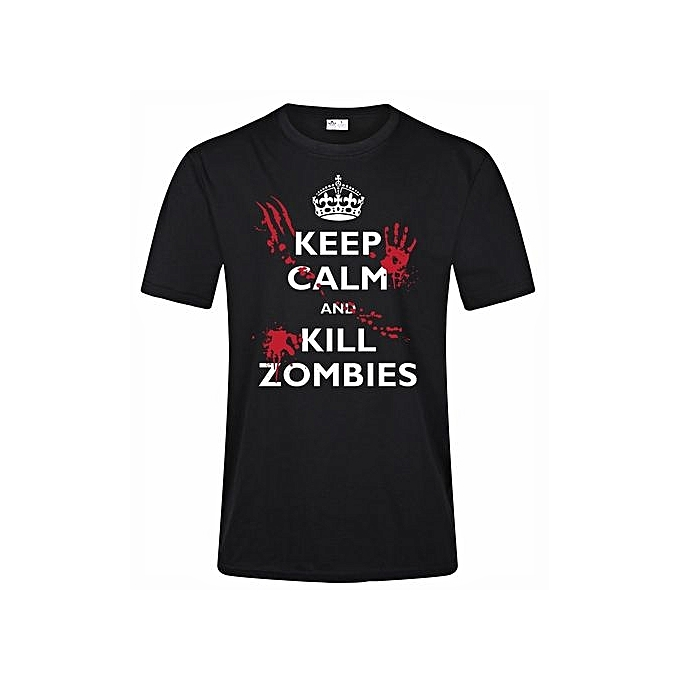 Generic Mens Funny Quotes Keep Calm And Kill Zombies Graphic