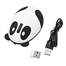 HP-Cute Cartoon Panda Mouse 2.4GHz Wireless Optical Mice Computer PC Mouse white