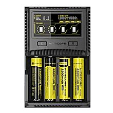 Nitecore SC4 LCD Display USB Rapid Intelligent Charger For Li-ion/IMR/LiFePO4/Ni-MH Battery EU Plug Black