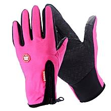 Men Women Outdoor Climbing Cycling Sports Full Finger Touch Screen Gloves red