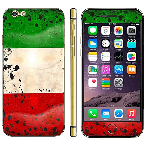 Kuwait Flag Pattern Mobile Phone Decal Stickers For IPhone 6 Plus & 6S Plus