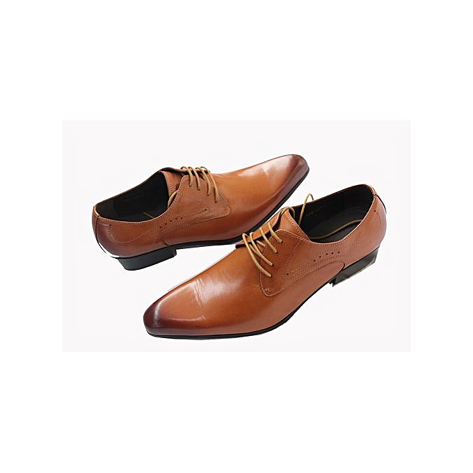 b747c801d50 Texas Men s Italian leather Designer Shoes - Brown   Best Price ...