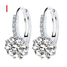 Simple Fashion Diamond Ear Stud Earrings Women Jewelry I