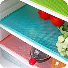 KCASA 4pcs Refrigerator Pad Antibacterial Antifouling Mildew Moisture Tailorable Silicone Pad