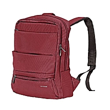 Apollo-BP: Red  Laptop Backpack, Slim Lightweight Dual Pocket Water Resistance Backpack with Multiple Compartment and Anti-Theft Pocket for 15.6 Inch Laptops, Tablets, Documents