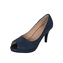 Red Brown Slipon Women's Heels