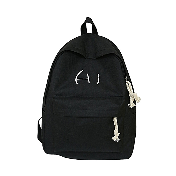 c5b143a1f655 koaisd Unisex Canvas Letter Backpack Outdoor Travel Backpack Student Bag ...