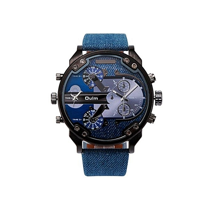 0c92a399291 Brand OULM 3548 Fashion Watches For Men Stainless Steel 2 Time Quartz Watch  Dz Acero Inoxidable