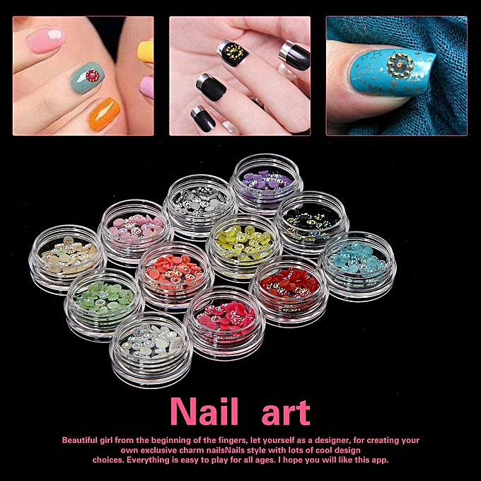 Buy Zlime Nail Art Accessories Crystal Rhinestone Wheel Decoration ...