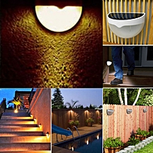 Outdoor Wall Fence Garden Light Control Solar Powered LED Lamp Light WW