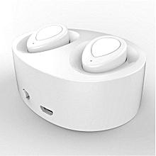 Wireless Bluetooth Sport headphone, TWS-K2 Bluetooth Wireless Stereo Fashionable Headset(White)