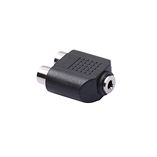 Fovibery Dual 2-RCA Female Jack To 3.5mm 1/8 Stereo Jack Y Splitter Audio Cable Adapter