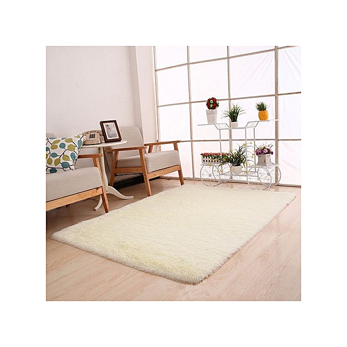 Houseworkhu Fluffy Rugs Anti Skid Shaggy Area Rug Dining Room Bedroom Carpet Floor Mat WH