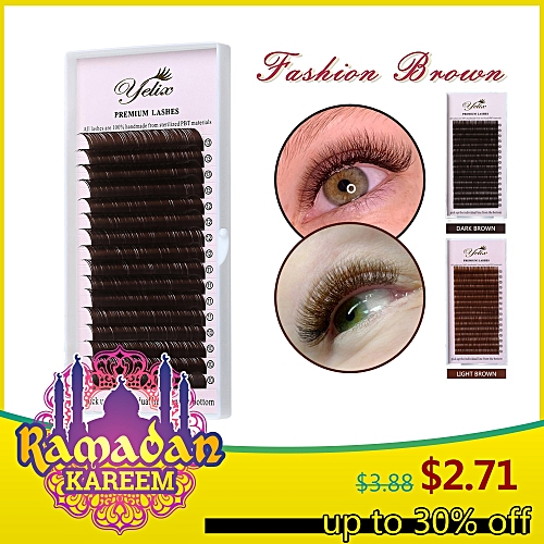 47d42b171cf Generic YELIX 0.07 C D False Eyelashes Dark Brown Individual Eyelash  Extension Color Fake Eye Lashes Mink Eyelash Extension 100% realCurl:C  Thickness: 0.07 ...