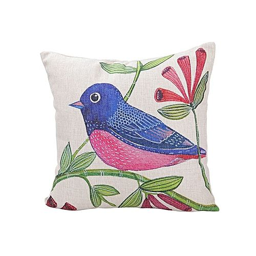 Throw Pillow Jumia : Ovonni Q531 - Coming Spring 18 Inch Square Linen/Cotton Throw Pillow Buy online Jumia Kenya