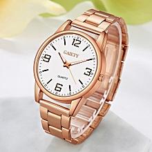 Women Fashion Chain Analog Quartz Round Wrist Watch Watches Rose Gold