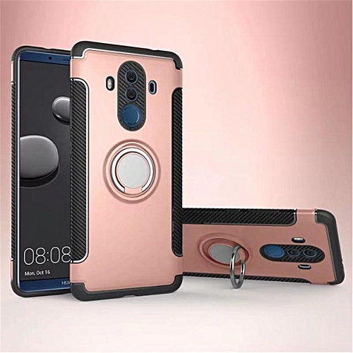 KZ Slim Fit Hybrid Dual Layer Armor Shock Absorption Rugged Defender with Ring Holder Kickstand Drop Protection Soft Rubber Bumper Case Cover for Huawei Mate 10 Pro  XYX-S