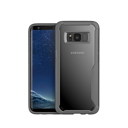 watch 9fdb5 36c92 Samsung Galaxy S8 Case, Fashion Hybrid Clear Transparent Slim Hard PC Back  Soft TPU Bumper Rugged Full Protection Shockproof Cover Case For Samsung ...