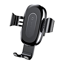 Baseus 2 in 1 Qi Wireless Car Charger Gravity Auto Lock Air Vent Phone Holder Stand for iPhone 8 X Black