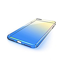 PC Cover Case Discolored Double Electroplated For IPhone 7 - Blue