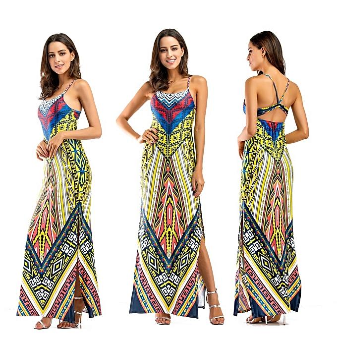 9517b63213b7 AFankara African Print Traditional Clothing Casual Party Dress-Green ...
