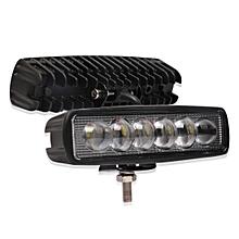 6 inch 18W 6000K IP68 8D Car Boat Marine Work Lights Spotlight LED Bulbs, DC 10-30V (White Light)