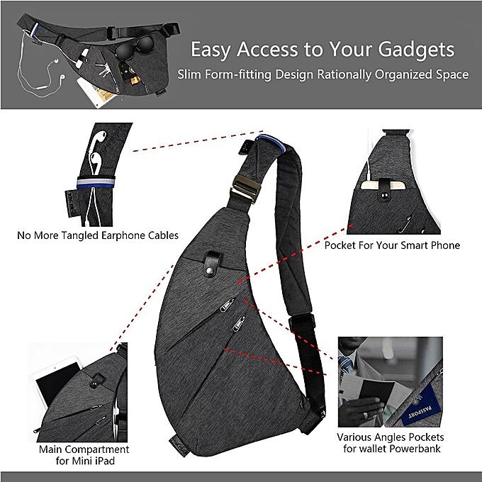d55e3319d ... JDM Sling Backpack Shoulder Chest Crossbody Bag Lightweight Casual  Outdoor Sport Travel Hiking Multipurpose Anti Theft ...