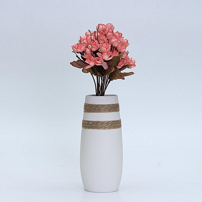 Buy Generic Modern White Porcelain Art Vase European Simple Ceramic