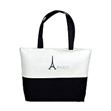 Canvas Eiffel Tower Pattern Girls Shopping Shoulder Bags Handbag Beach