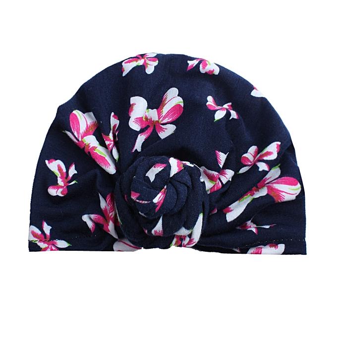 5967c101890 Cute Newborn Toddler Kids Baby Boy Girl Turban Cotton Beanie Hat Winter  Warm Cap-As