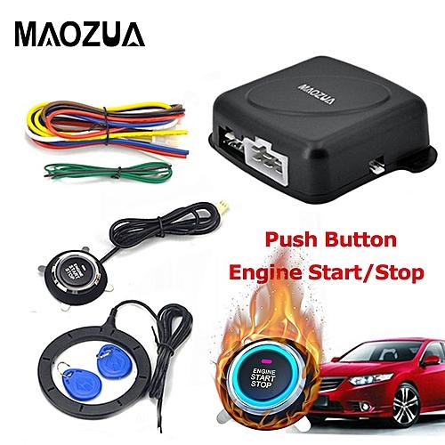 Maozua Auto Car Alarm Start Stop Engine Starline Push Start Button RFID  Lock Ignition Switch Keyless Entry System Immobilizers JOHN