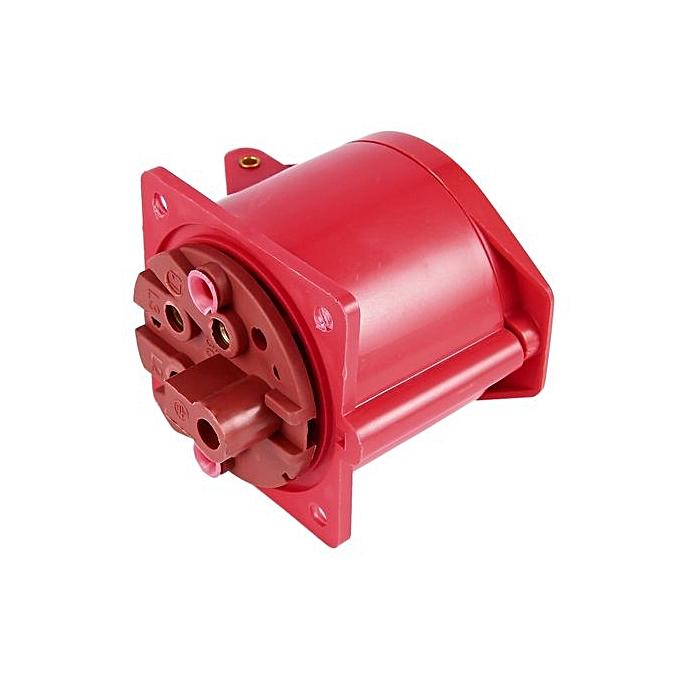 Allwin Red 415V 32 Amp 5pin Industrial Plug & Wall Socket Waterproof ...