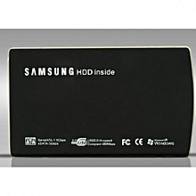 USB 2.0 External Hard Disk Drive Case Enclosure - Black