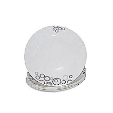 Diva 6 Pieces Diva Classique Dinner Plates - Misty Drops