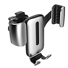 Car Phone Holder for iPhone X 8 7 Gravity Air Vent Mount Holder for Phone in Car Mobile Phone Holder Stand for Samsung S9(Silver)