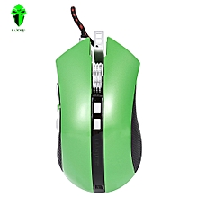 LUOM G60 Professional USB Wired Quick Moving LED Light Gaming Mouse Game Peripherals With Nine Buttons-GREEN