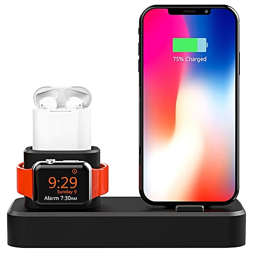 the best attitude b54d1 22ab1 Desk Charge Stand Dock Station For Iphone XS Iphone XR Iphone X Night Stand  Charging Station For Airpods Apple Watch All Series LIMEI